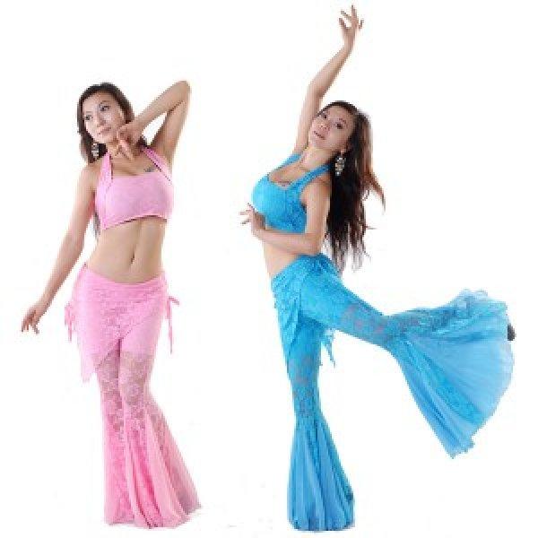 画像1: ベリーダンスセットアップ015--「全8色」 ベリーダンス2点セット★チョリ+スカーフ付きフレアパンツ  (1)