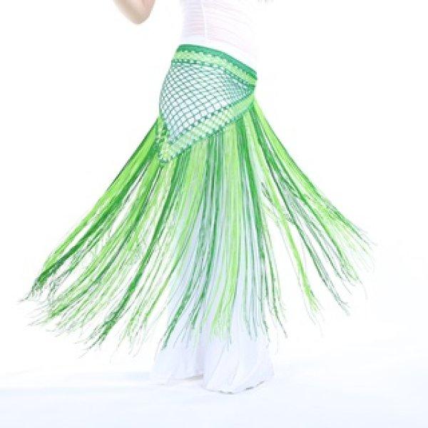 画像1: ベリーダンススカーフD17--「多色可」アルゼンチン風二色ヒップスカーフ (1)