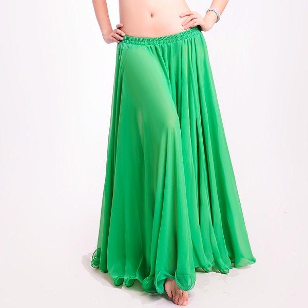 画像1: ベリーダンススカート045-[多色可」15ヤードシフォンススカート 720度 スカートH6020 (1)
