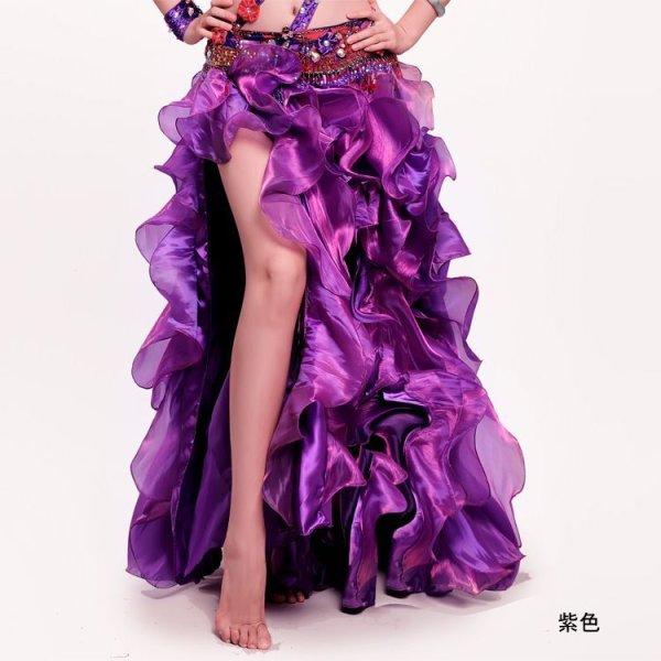 画像1: ベリーダンススカート--スリットスカートQ6027 (1)