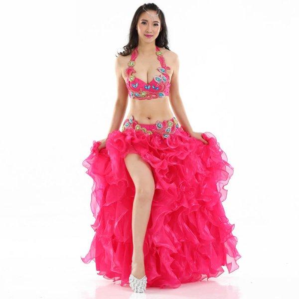 画像1: ベリーダンス衣装コスチューム --ブラ+ベルト 2点セット871 (1)
