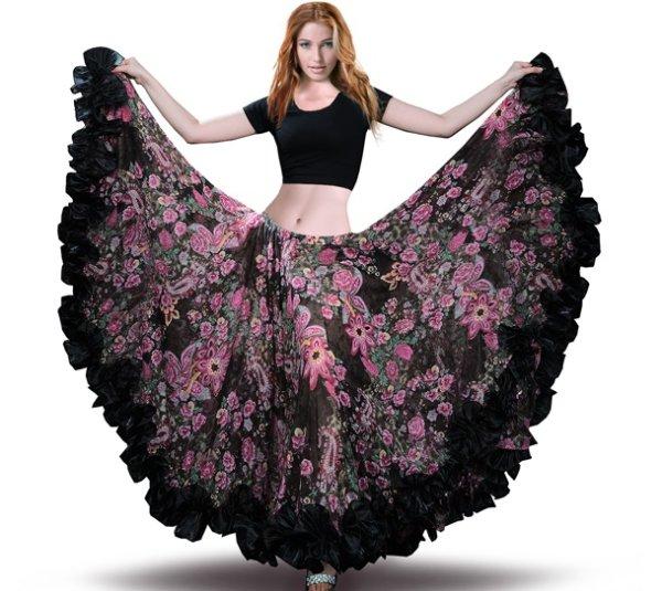 画像1: ベリーダンススカート--スカートH6040 (1)
