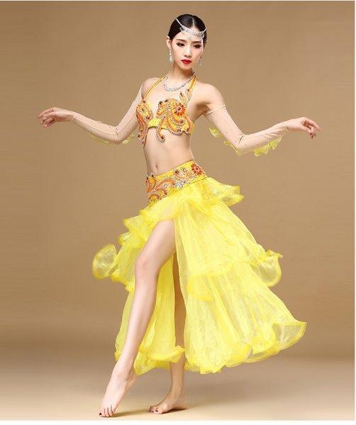 画像1: ベリーダンス衣装コスチューム -発表会用★3点セットWQ01189 (1)