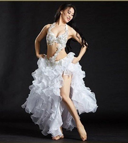 画像1: ベリーダンス衣装コスチューム --発表会用セット880#スカートB (1)
