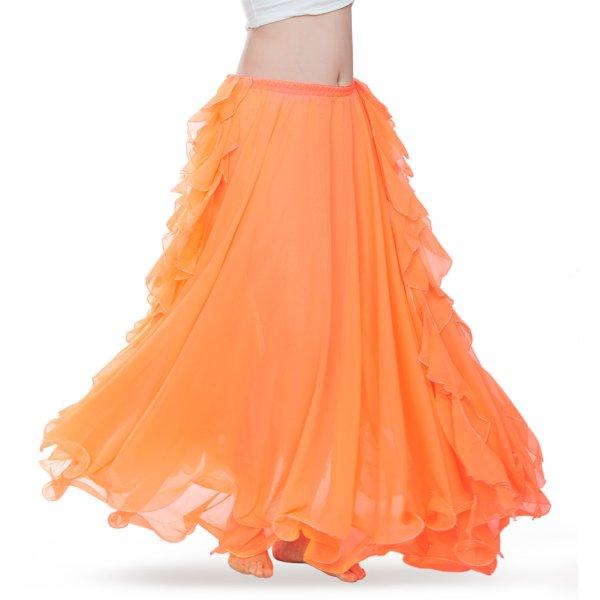 画像1: ベリーダンススカート--スリットスカートQ6001 (1)