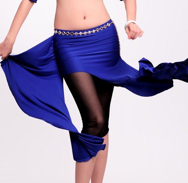画像1: ベリーダンススカーフ--「多色可」ヒップスカーフH6025 (1)