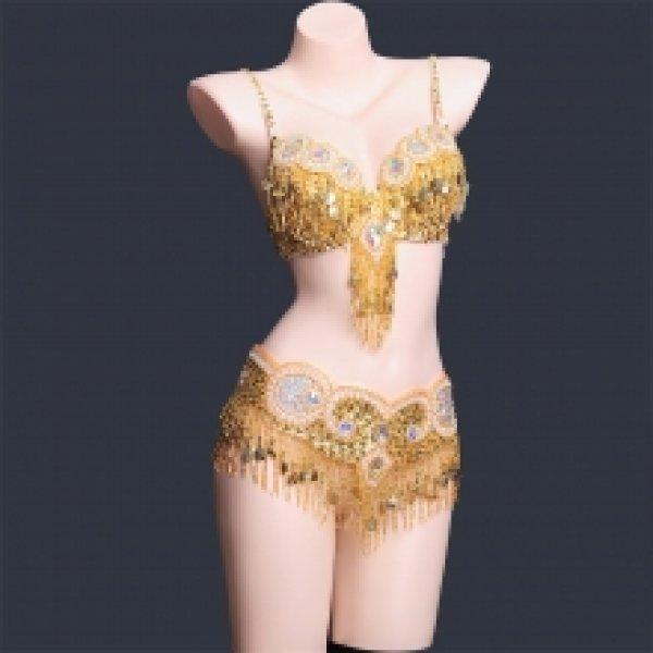 画像1: ベリーダンス衣装コスチューム--ブラ+ベルト 2点セットArtemis-WY8609 (1)