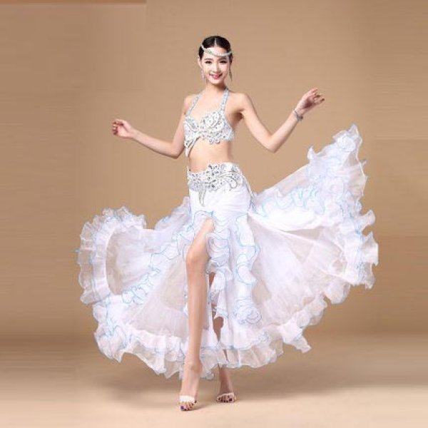 画像1: ベリーダンス衣装コスチューム--ブラ+ベルト 2点セットWJ01092 (1)