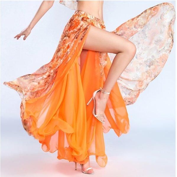 画像1: ベリーダンススカート--スリットスカート6805 (1)