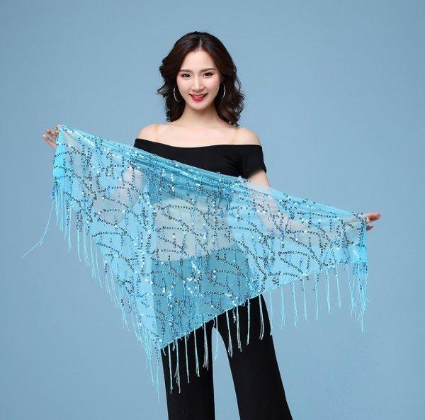 画像1: ベリーダンススカーフ--スカーフ HY9922 (1)