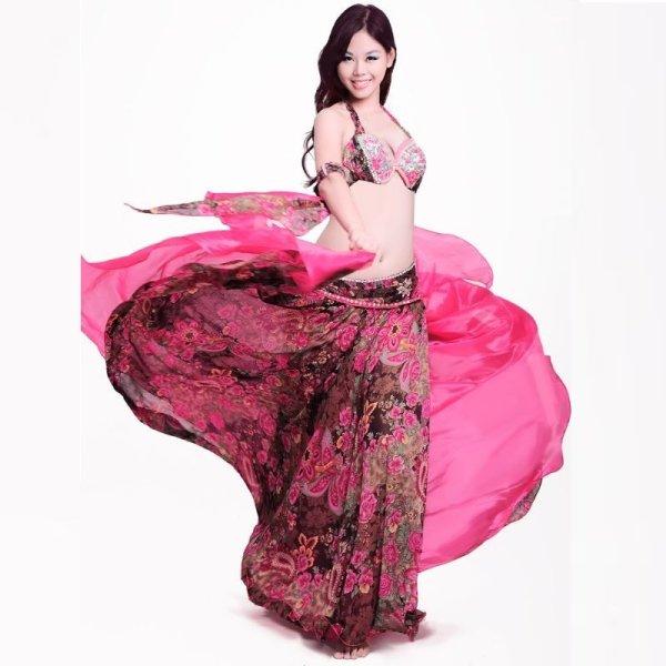 画像1: ベリーダンス衣装コスチューム -発表会用★4点セットH8601 CELIA (1)