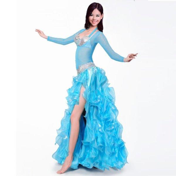 画像1: ベリーダンス衣装コスチューム -発表会用★4点セットAmira-WY8165 (1)