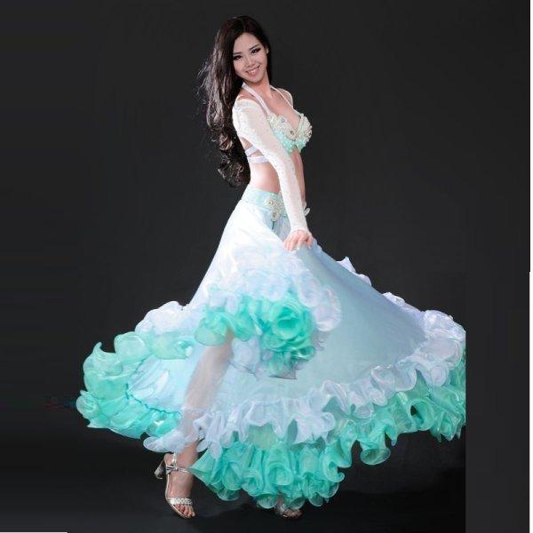 画像1: ベリーダンス衣装コスチューム--発表会用★4点セットH8326 (1)