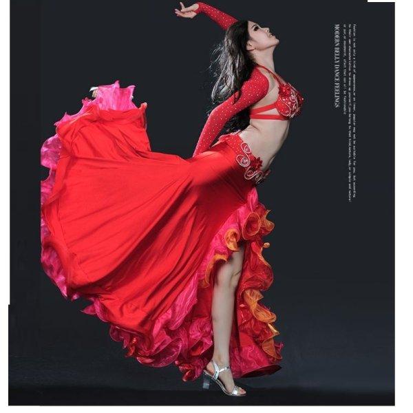 画像1: ベリーダンス衣装コスチューム--発表会用★4点セットTess-8053 (1)