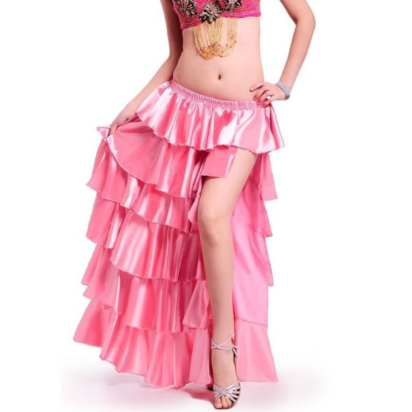 画像1: ベリーダンススカート043--[多色可」スカート 6018 (1)