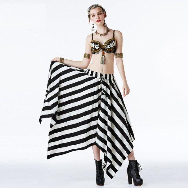 画像1: ベリーダンス衣装コスチューム--発表会用★2点セットW01717+K01713 (1)