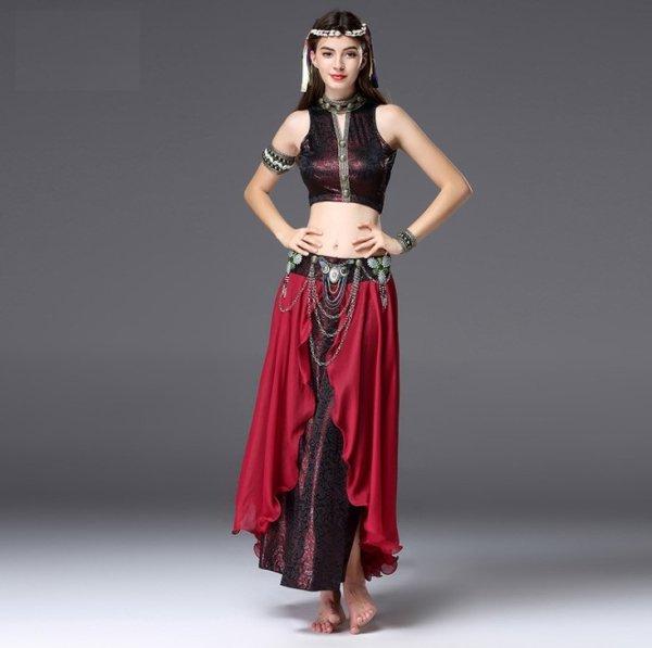画像1: ベリーダンス衣装コスチューム--発表会用★2点セットSQ01629 (1)