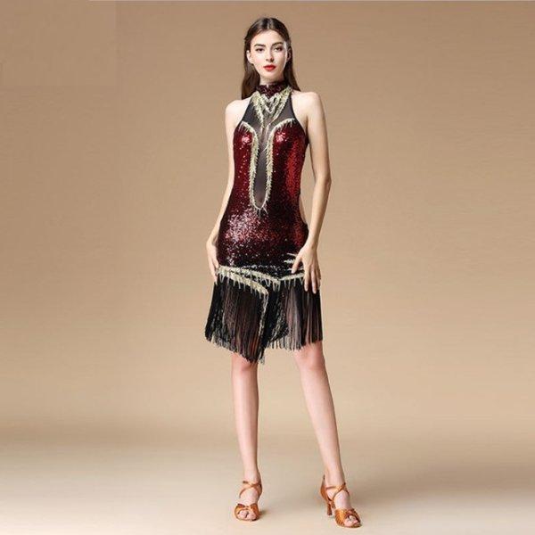 画像1: ラテンダンス 衣装 練習セット-ワンピースL01683 (1)