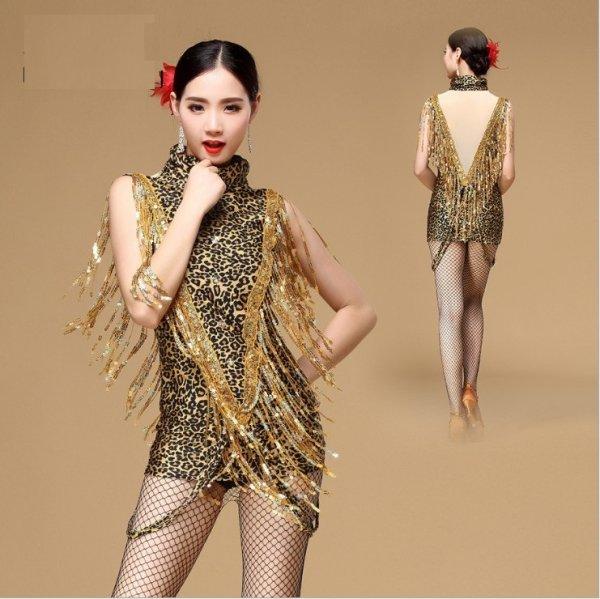 画像1: ラテンダンス 衣装 練習セット-ワンピース L01149 (1)