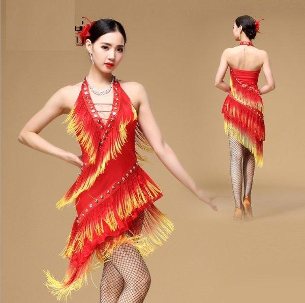 画像1: ラテンダンス 衣装 練習セット-ワンピース Q00957 (1)