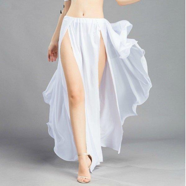 画像1: ベリーダンススカート--スリットスカート6810 (1)