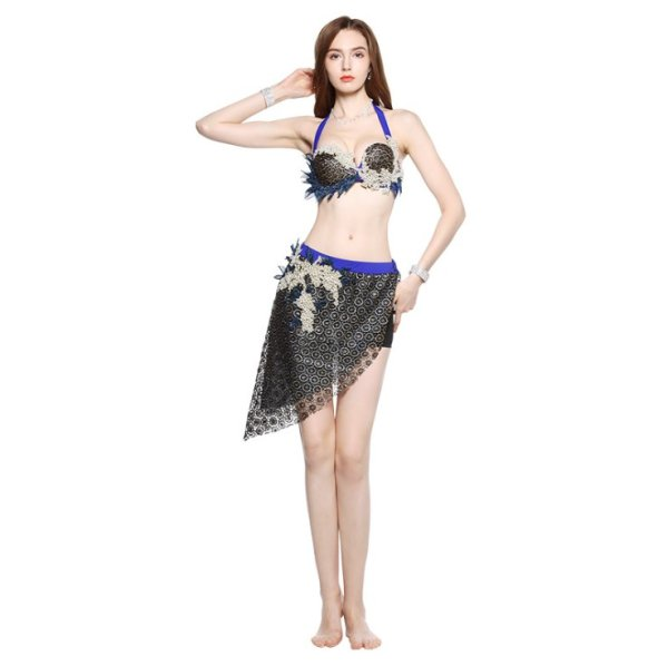 画像1: ベリーダンス衣装コスチューム--発表会用★2点セットWQ01762 (1)