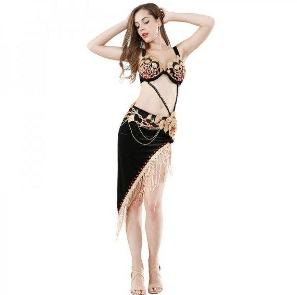 画像1: ベリーダンス衣装コスチューム--発表会用★4点セット7829(119147+119148) (1)