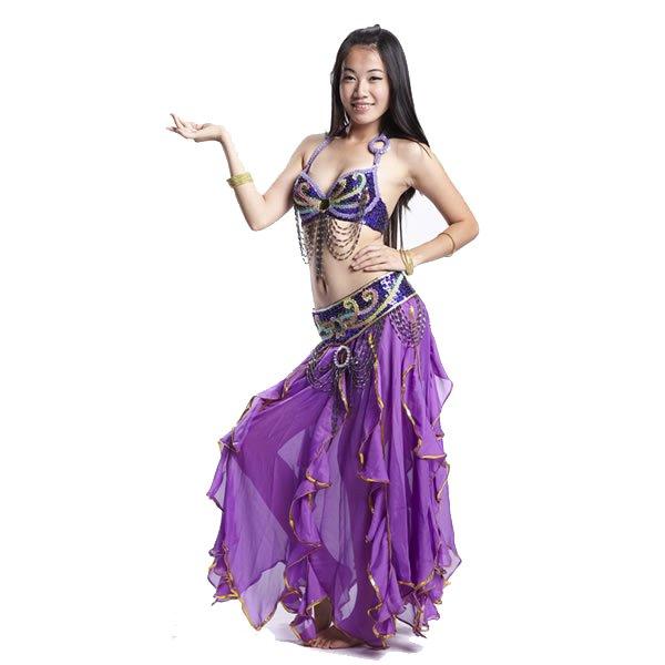 画像1: ベリーダンス衣装コスチュームS14--ブラ+ベルト 2点セット837 (1)