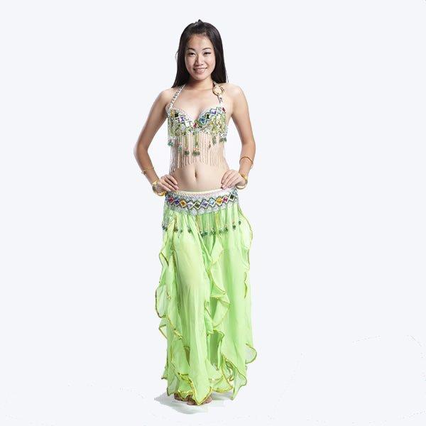 画像1: ベリーダンス衣装コスチュームS01--「2色可」ブラ+ベルト2点セット840 (1)