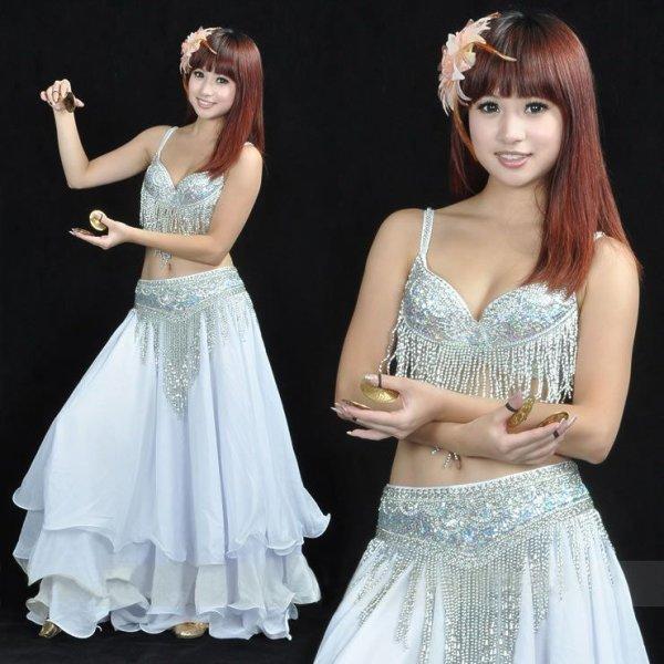 画像1: ベリーダンス衣装コスチュームS07--ブラ+ベルト2点セット815 (1)