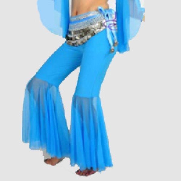 画像1: ベリーダンスパンツ014--「全9色」膝下ふんわりパンツ(K09) (1)