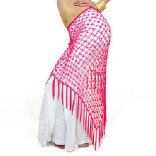 画像1: ベリーダンススカーフ004--「多色可」 ネット三角巾 (1)